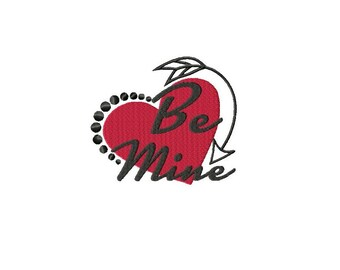 Be Mine Machine Embroidery Design