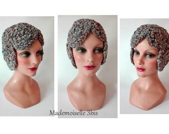 helmet woman wool hat winter Beanie Hat gray ski Mütze Damen, ear warmer Hat