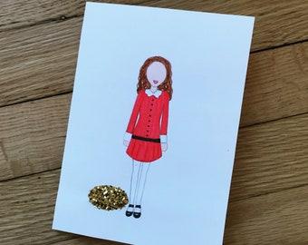 "Veruca Salt ""Golden Egg"" Card"