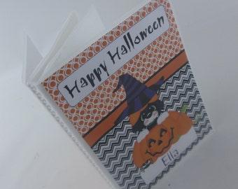HALLOWEEN photo album Girl photo album personalized photo album Boy happy halloween Jack o lantern 4x6 or 5x7 picture black cat pumpkin 435
