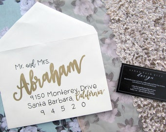 Wedding envelope calligraphy, wedding envelopes, wedding envelope addressing, envelope addressing, wedding, wedding calligraphy