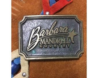 Vintage Barbara Mandrell Country Belt Buckle