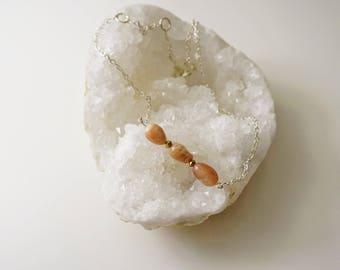 Sunstone on Sterling Silver Necklace