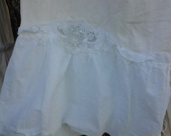 Southern Sophistication Bloomers of the alabaster cotton with lace