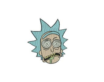 """3.5"""" Wasted Rick Iron-On Patch - And Morty Tiny Pickle Little Cartoon Mr. Meeseeks Adult Swim Network TV Series NEW Season Episode Episodes"""