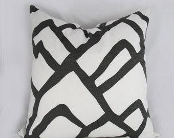Schumacher-  Zimba - Decorative Pillow Cushion Cover - Accent Pillow - Throw Pillow  - Charcoal