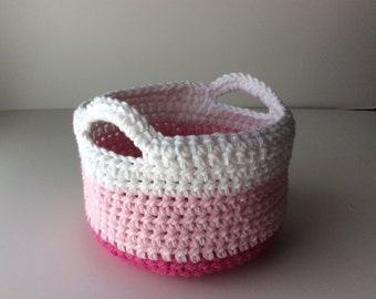 CROCHET PATTERN - Crochet Basket Pattern, Small Crochet Basket, Crochet Easter Basket Pattern, Spring Decor, Spring Crochet Pattern