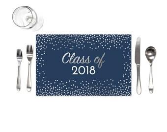 Graduation Decor - Graduation Table Decor - Table Placemats - Graduation Party Ideas - Graduation Party Decorations - Class of 2018