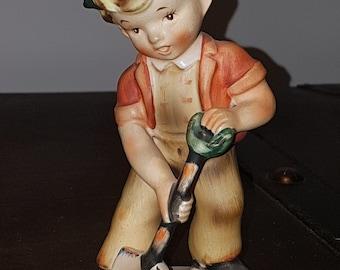 ESD Japan, Little Gardener, hand painted figurine, vintage figurine, vintage home decor
