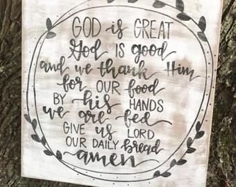 God is Great, God is Good Prayer