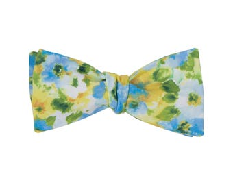 Watercolor Floral Bow Tie