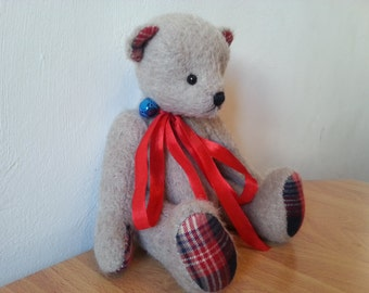 Artist teddy bear Tony - OOAK artist mohair bear 24 cm or 9,4 inches, handmade teddy bear, OOAK teddy bear