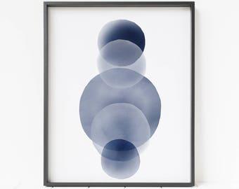 abstract print, watercolor wall art, blue wall art, abstract printable art, modern minimalist painting, scandinavian decor, large art print