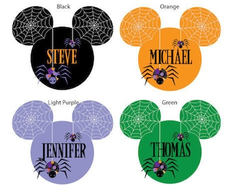 Disney Inspired Spider Web Mouse Head Magnets for Halloween Disney Cruise