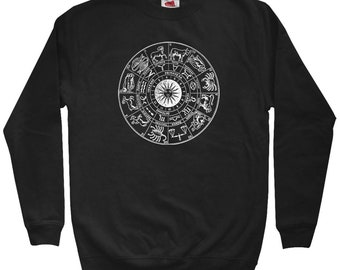Sweatshirt - Men S M L XL 2x 3x - Crewneck - Astrology Gift, Astrology Sweatshirt, Zodiac Signs, Zodiac Circle, Constellations