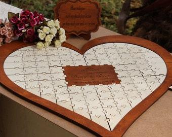 Guest book, Wedding guest book, wedding guest book puzzle, puzzle guest book, guestbook puzzle, puzzle, wedding puzzle, wood wedding puzzle