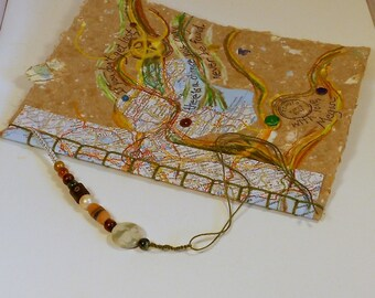 Hand Made Paper Custom Travel Journal--Personalized to Your Destination PM#JSB