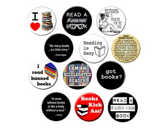 Choose a Reading Magnet - For Librarians, Students, Readers and Book-Lovers  - Choose One 2.25 inch Reading Fridge Magnet