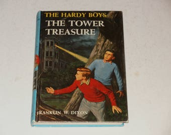 Vintage 1959 Book-The Hardy Boys-The Tower Treasure by Franklin W Dixon-Mystery story-A Who Dunnit- Collectible Book