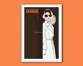 Movie poster Charade Hepburn print in various sizes