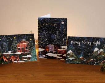 Christmas Greetings Cards- Set of 3