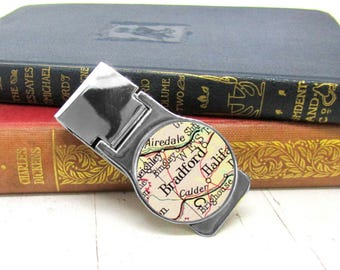 Custom Map Money Clip, Gift For Dad, Personalized Gift For Him