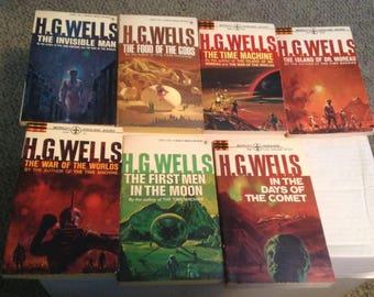 H.G. Wells Seven Science Fiction Novels. 1967 Edition.