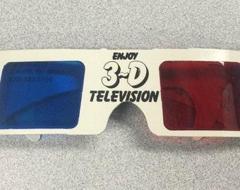 1977-1986 Enjoy 3-D Television Glasses in Original Unused Condition