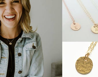 Gold Inital Necklace - Personalized Jewelry - Bridesmaid Necklace - Grandma Necklace Mother's Necklace Mom Gift - Rose Gold Jewelry - Silver