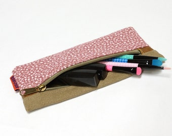 Musical Notes Pencil Pouch, Zipper Pouch, Cosmetic Bag, Sunglasses Case, Travel Pouch, Makeup bag handmade by EllaOsix