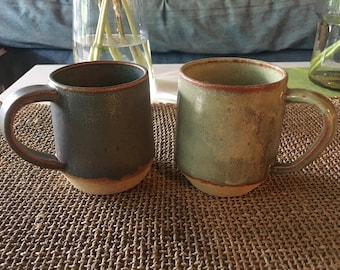 Pair of stoneware coffee cups