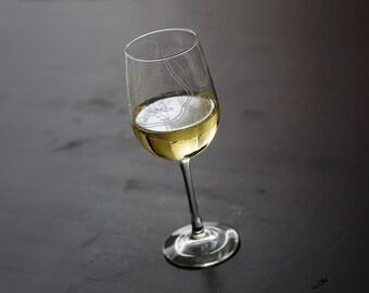 Nashville Map Wine Glass