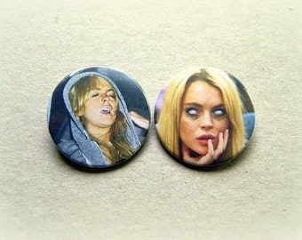 Lindsay Lohan - pinback button or magnet 1.5 Inch