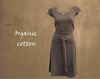organic cotton dress, summer dress GOTS certified organic cotton, sportly tricot dress