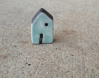 house bead, blue bead