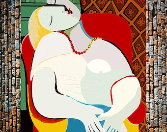 Picasso Dream 2 Art Painting Reproduction, Picasso Reproductions, Picasso Art,  Vintage Art, Giclee Art Print, fine Art Reproduction