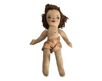 Folk Art Rag Doll (Early 20th Century)