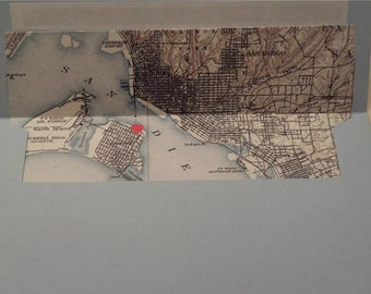 Map Envelope Liner with Heart Over Event Location-Set of 10
