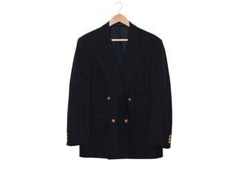 1980s vintage dark blue wool sailor suit jacket - vintage clothing