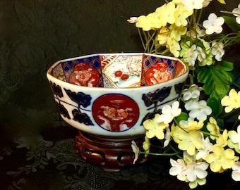 "Kitchen porcelain bowl Otagiri Mercantile Company mid century hand painted OMC 1960"" kitchenwares"