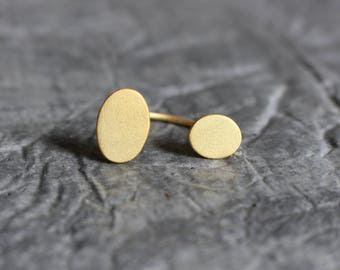 U ring, Double oval, pebble ring, minimalist ring, geometric ring, modern ring, contemporary jewelry, open ring