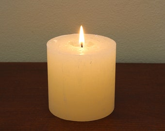 Unscented Candle (To fit our Elephant Candle Holder)