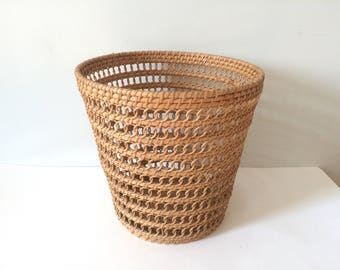Vintage natural wicker basket