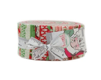 Swell Christmas Jelly Roll - Moda Fabrics - Urban Chic - Christmas Fabric - Vintage Looking Christmas Fabric