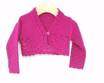 Fuchsia  Bolero Sweater