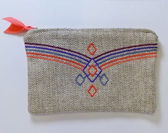 Embroidered Clutch / Multi - Use pouch