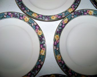 Thomas Bavaria Pattern 3091 Set Of  7 Lunch Plates