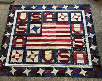 Quilt Top : USA Stars & Stripes