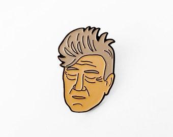 David Lynch Enamel Pin - Illustrated Enamel Brooch