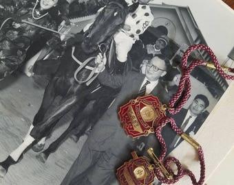 All Original Pair of The Royal Hong Kong Jockey Club Enamel Brooch Badge Bracelet 1987-1988